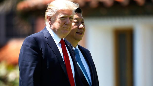 US President Donald Trump was dining with Chinese President Xi Jinping when a naval destroyer launched the first of ...