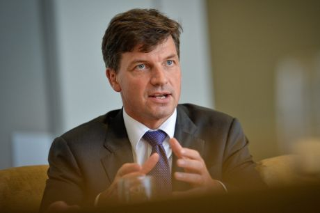 Selling Canberra in Singapore: Assistant Minister for Digital Transformation Angus Taylor.