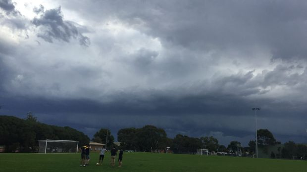 An Age reader sent an image from Knox as the storm approached on Sunday.