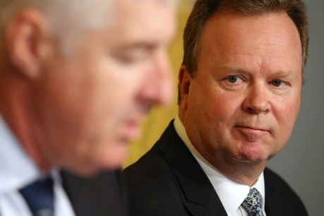 Pressed: ARU chairman Cameron Clyne and CEO Bill Pulver.