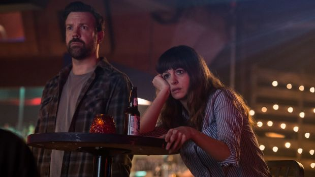 No love story: Gloria (Anne Hathaway) with her not-so-helpful friend Oscar (Jason Sudeikis).