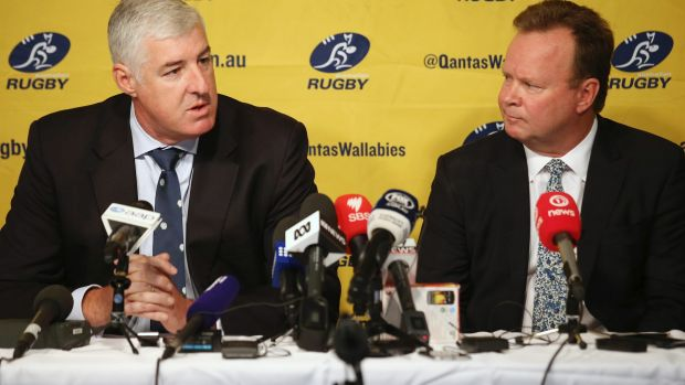 Australian Rugby Union chairman Cameron Clyne and CEO Bill Pulver. The ARU have not addressed the players since ...
