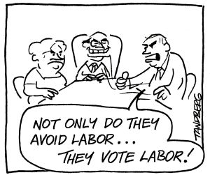 Ron Tandberg on work for the dole back in 2000.