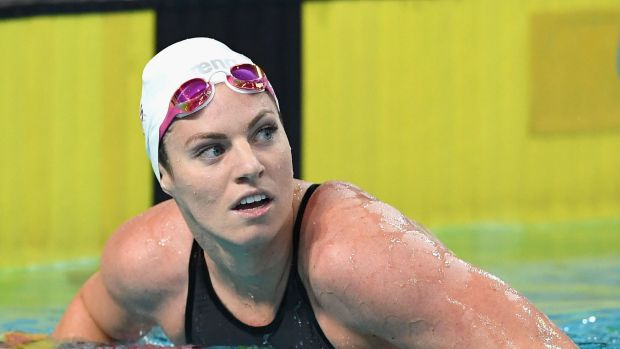 Feeling refreshed: Emily Seebohm, pictured on Monday night.