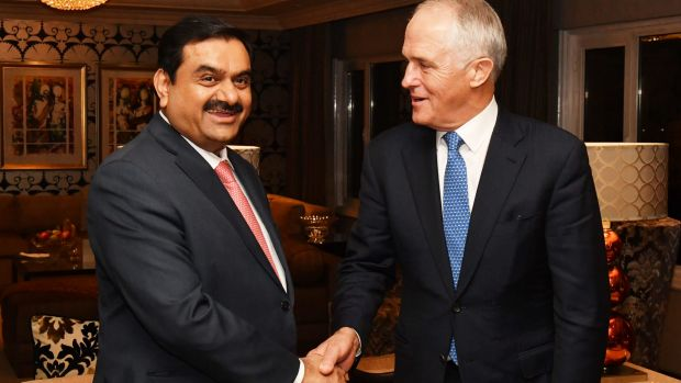 Prime Minister Malcolm Turnbull met India's Adani Group founder and chairman Gautam Adani in Delhi on Monday.