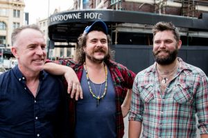 Food, music and big dreams for the new owners of the Lansdowne Hotel: Jake Smyth, centre, and Kenny Graham, right, with ...