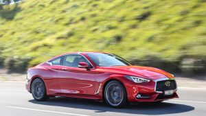 Infiniti's Q60 Red Sport features handsome proportions.