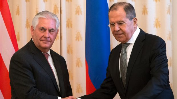 US Secretary of State Rex Tillerson meets Russian Foreign Minister Sergey Lavrov in Moscow.