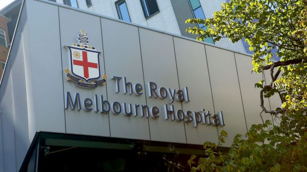 Police were called to the Royal Melbourne Hospital to rescue a staff member on Monday night.