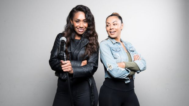 Paulini (left) and Prinnie Stevens are on a steep learning curve for their leading roles in <i>The Bodyguard: The ...