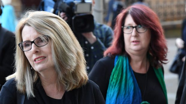Glen Turner's wife Alison McKenzie (left), with his sister Fran Pearce, agreed to the documentary because 'she doesn't ...