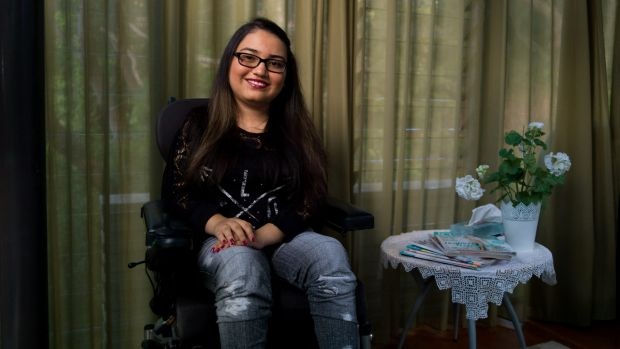Ocia Anwar, 17, suffers from an extremely rare form of degenerative disease. She and her sister are the only two known ...