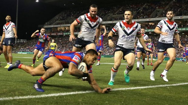 Fightback: Ken Sio replies for the Knights.