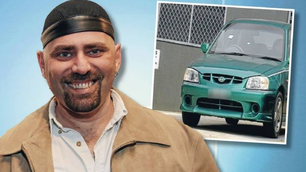 John Caddle (picture in 2011) was found to be in a manic state when he drove his Hyundai Accent (inset) Crown Street Mall.