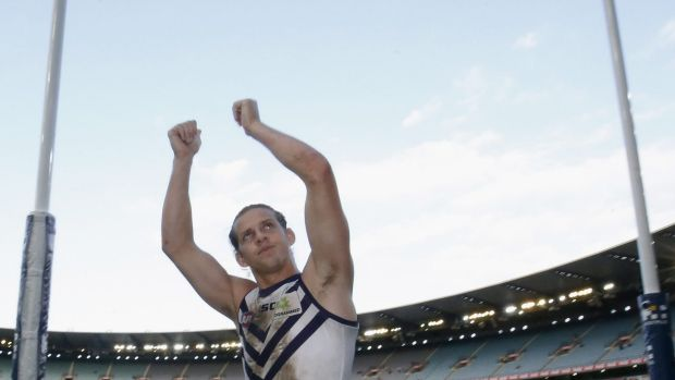 Is Fremantle captain Nat Fyfe on his way to the Saints?