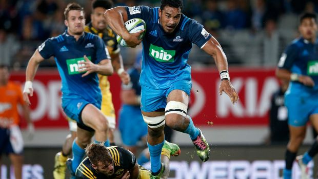 On the charge: Jerome Kaino.