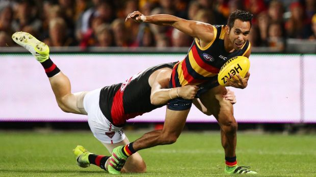 Six of the best: Crow goalsneak Eddie Betts was unstoppable.