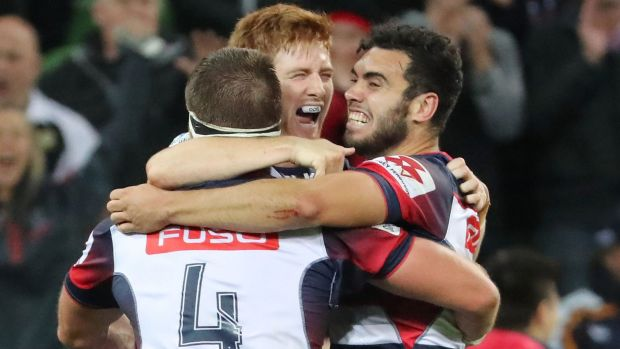Rebels with a cause: Melbourne Rebels post their first win of the season, staking their claim to remain in the top ...