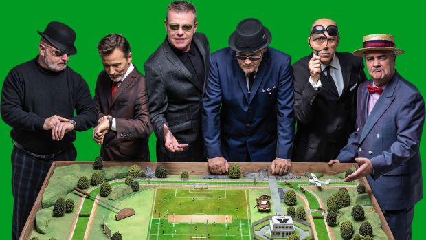 Suggs, third from the left, with fellow members of Madness.