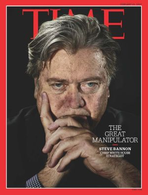 US President Donald Trump was reportedly unhappy when Bannon's image was splashed over the cover of TIME.