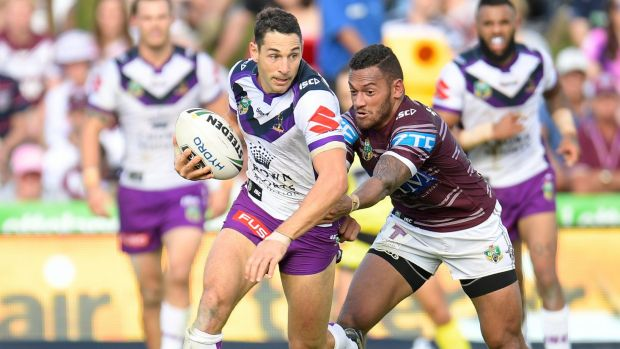 Discretion: Billy Slater was very forward against Manly but not so forthcoming on how much of the revenue pie the ...