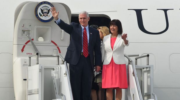 U.S. Vice President Mike Pence and his wife Karen Pence will arrive in Sydney on Friday.