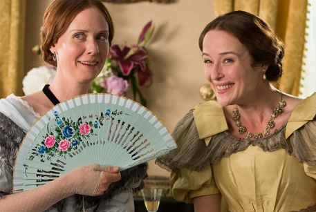 Cynthia Nixon and Jennifer Ehle in A Quiet Passion.