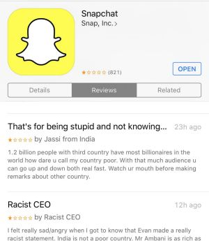 The Snap listing on Apple's App Store.