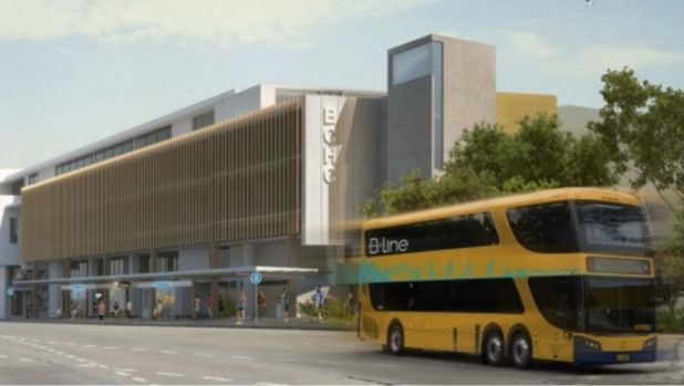 An artist's impression shows a new B-Line style bus.