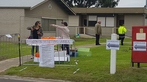 Bittersweet: The controversial Easter egg hunt at Geelong Showground.