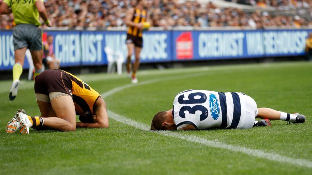 Josh Gibson was cleared over this clash with Geelong's Tom Ruggles.