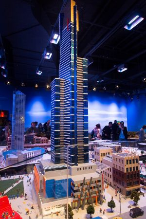 A lego model of the Eureka tower.