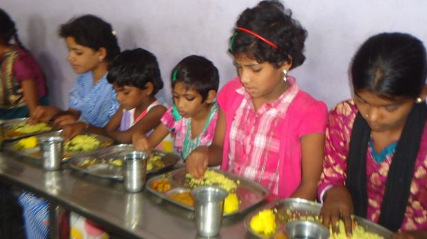 Children at the Desire Society's home for HIV/AIDS orphans in India.