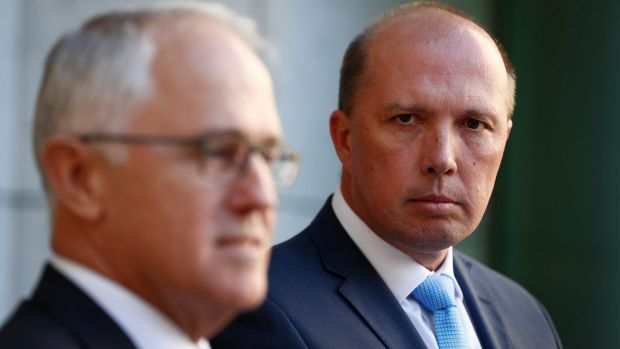 Immigration Minister Peter Dutton announced the abolition of the 457 visa with Prime Minister Malcolm Turnbull on Tuesday.