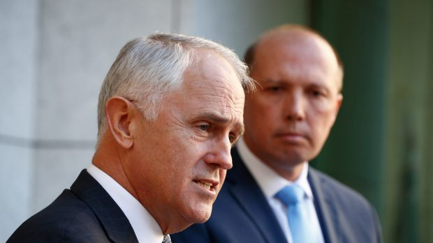 Prime Minister Malcolm Turnbull and Immigration Minister Peter Dutton unveil details of the visa shake-up.