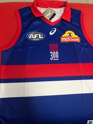 The Bulldogs jumper to be used for Bob Murphy's 300th game.