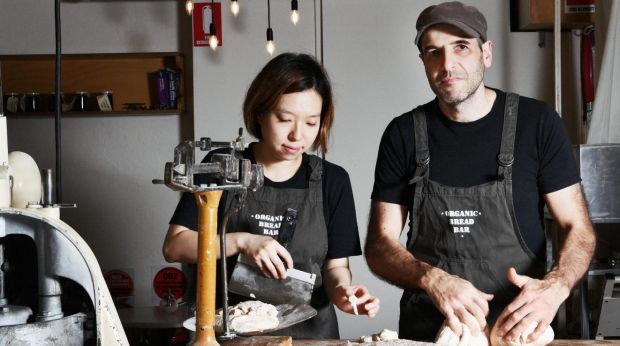 457 visa worker Yuhwa Kim from South Korea and bakery owner Andreas Rost.