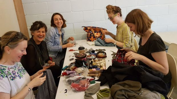 Fixing stuff is back in fashion ... participants at a Repair Cafe