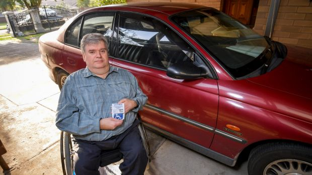 Ben Williams is fighting a fine he received for not displaying his disability parking permit.