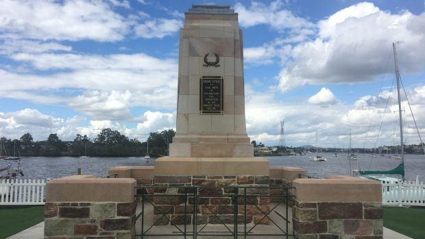 The war memorial at Cameron Rocks Reserve, Hamilton, has been restored and relocated.