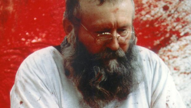 Austrian artist Hermann Nitsch has been using animal carcasses and blood in his art for decades.