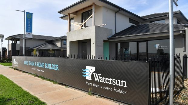 An unfinished Watersun display home in Tarneit. The property is held in the name of a separate company, Watersun Land ...
