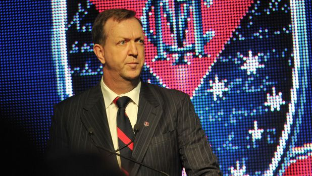 Melbourne president Glen Bartlett: Has urged the AFL to adopt a fresh approach in pay bargaining.