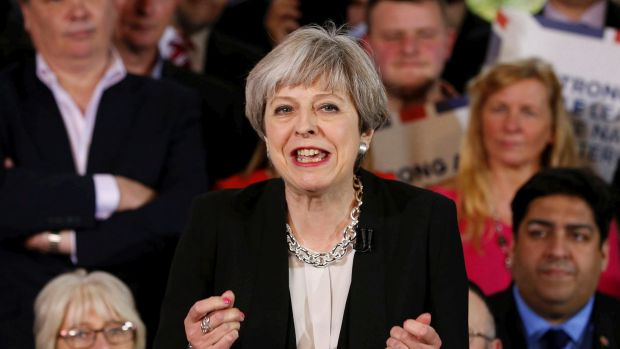 Britain's Prime Minister Theresa May: under attack as campaign begins.