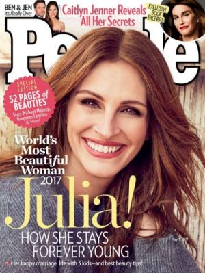 Julia Roberts on the cover of <i>People</i>.