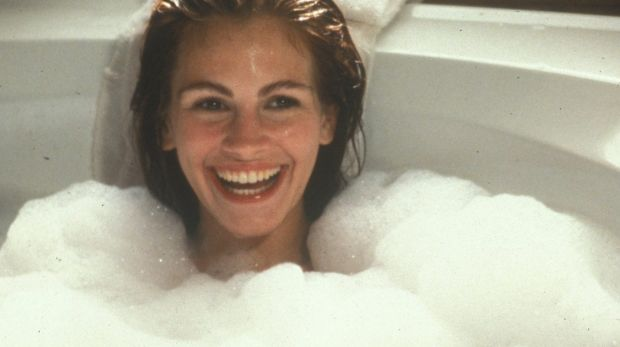 Julia Roberts in Pretty Woman, the year before she won the title for the first time.