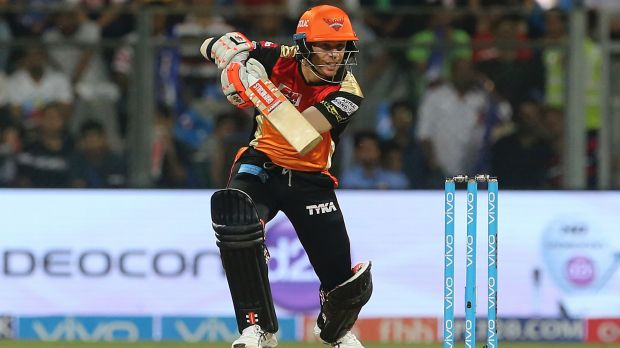 Sunrisers Hyderabad captain David Warner was cheaply dismissed for only four runs.