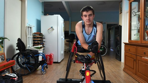 Greg started wheelchair racing in 2012 and hopes to compete on the world stage.
