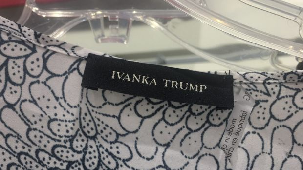 An Ivanka Trump shirt on sale at a TK Maxx store (one of the overseas outlets of TJ Maxx).