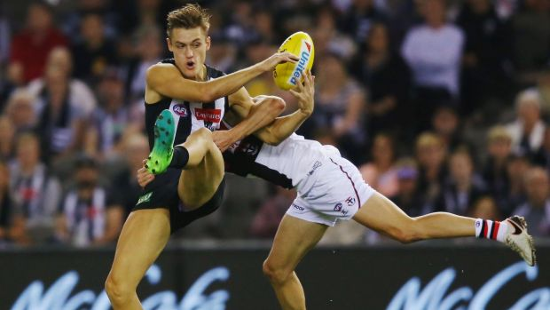 Learning game: Darcy Moore has the raw attributes, but isn't ready to be a key forward